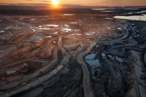 Alberta tar sands - a failing project, that has devastated the Borel forests and land the size of England